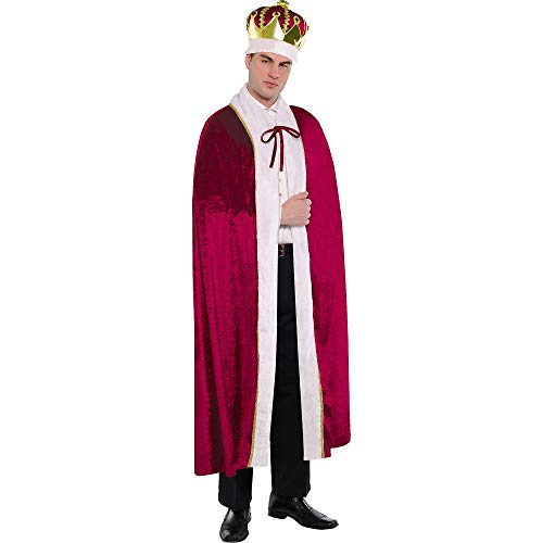 AMSCAN King Robe Halloween Costume for Men, One Size]()