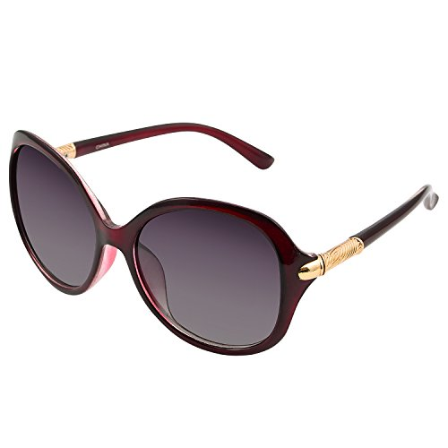 Extra Large Women's Fashion Sunglasses Oversize Shades For Women Red ()