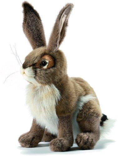 Hansa Blacktail Jack Rabbit Plush Animal Toy, 12