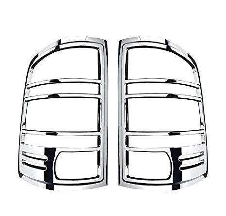- ShopDone Fit 07-13 GMC Sierra Chrome ABS Tail Light Bezel Trim Cover