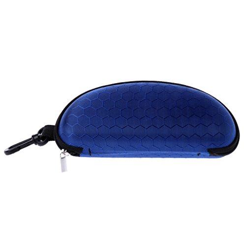 Bettal Portable Eyeglasses Case with Zipper for Men Women Glasses Protector (Royal - For Women Blue Eyeglasses