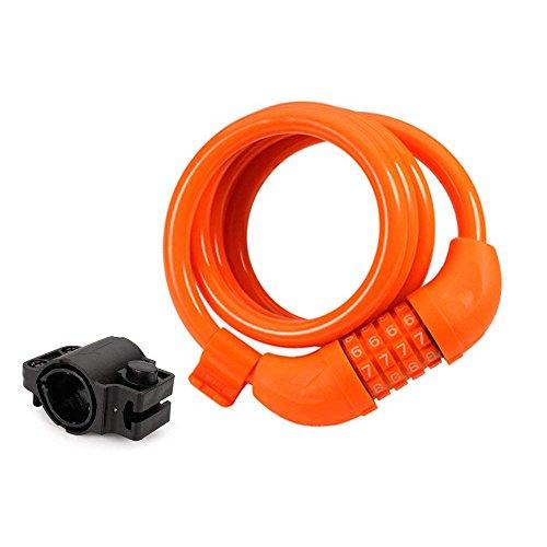 Bike Lock Cable, 4-Feet Bike Cable Basic Self Coiling Resett