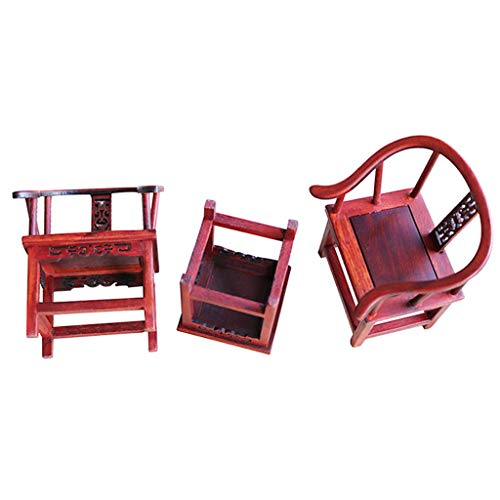 - SM SunniMix Handmade 1/6 Round-Backed Armchair End Tea Table Dollhouse Living Room Furniture Decoration