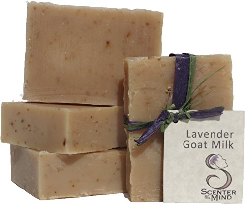 Scenter of the Mind Lavender Goat Milk Soap, 3.5-4 oz (4-pack) Lavender oil is reviving, has a great smell, long lasting, gentle on your skin and is soothing. Natural ingredients do not dry your skin.