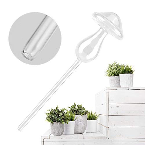 (2 Pack Mushroom Shape Automatic Vacation Plant Watering Spikes Ceramic Self Drip Irrigation Watering System for Indoor Outdoor Use)