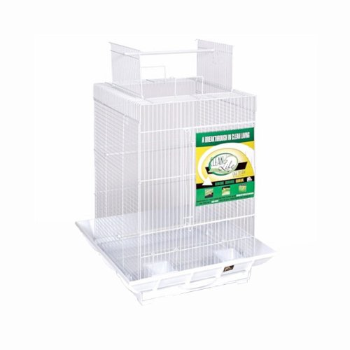 Prevue Hendryx PP-851withW Clean Life Play Top Bird Cage - White B008RDZ4TO