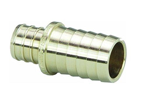 VIEGA 46156 Pureflow Zero Lead Brass Pex Crimp Adapter with 1'' x 1'' Crimp x PE (3-Pack)