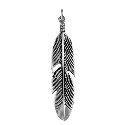 Feather Pendant - Sterling Silver Feather Pendant