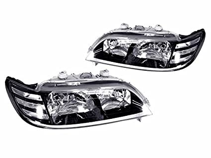 CPW Tm 97 99 Acura CL 23 30 JDM Black Headlights With Clear