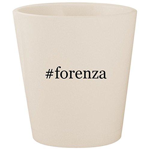 (#forenza - White Hashtag Ceramic 1.5oz Shot Glass)