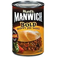 Hunt's, Manwich, Bold Sloppy Joe Sauce, 16oz Can (Pack of 6)