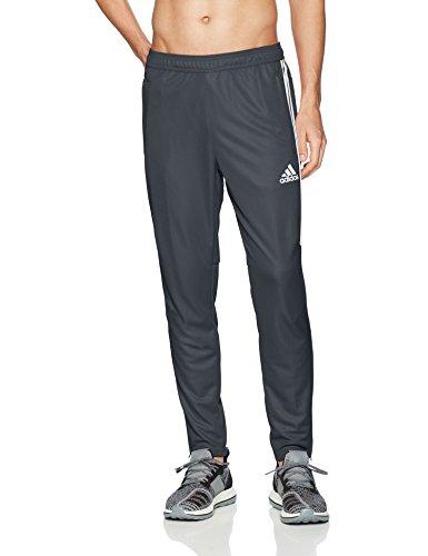 adidas Men's Soccer Tiro 17 Pants, Small, Dark Grey/White/White