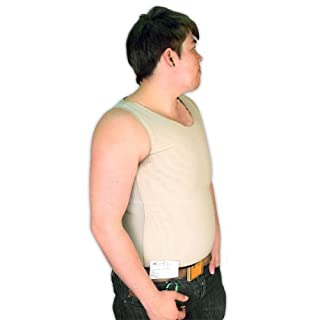 Tranz* Forms Bind-Rite PowerNet Sleeveless FTM Chest Binder with Double Panel Front, Beige (X-Large) by Tranz* Forms