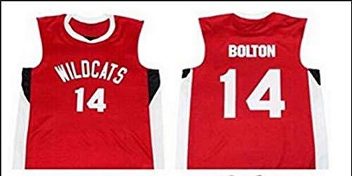 (Boriz Zac E Troy Bolton 14 East High School Wildcats Red Basketball Jersey)