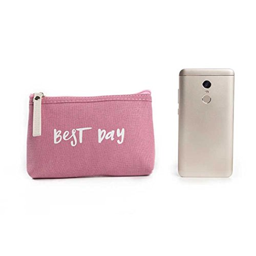 ZYUPUP Women Best Day Letters Cosmetic Bag Zipper Coin Purse Clutch Bag Tote (one size, A)