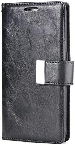 Galaxy S6 防塵 ケース, CUNUS 高品質 合皮レザー ケース 衝撃吸収 軽量 液晶保護 耐汚れ カード収納 カバー Samsung Galaxy S6 用, ブラック