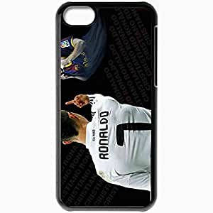 Personalized iPhone 5C Cell phone Case/Cover Skin Revenge By Ronaldo Cristiano Ronaldo Lionel Messi FC Barcelona Real Madrid Football Black