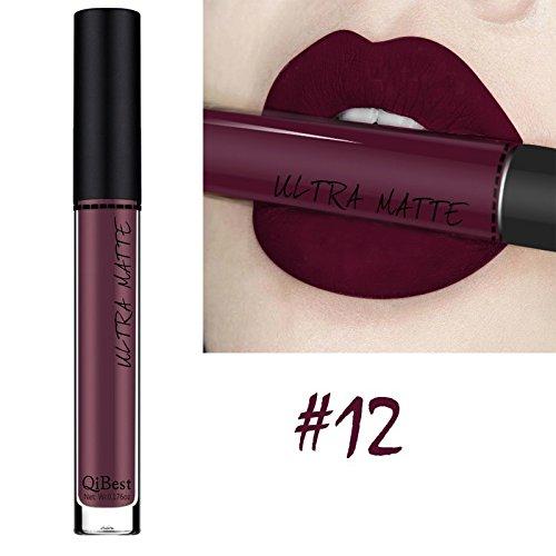Lipsticks Ultra Matte Liquid Lipgloss Burgundy Lip Makeup Sexy Long Lasting Waterproof Color Stay Nontoxic Cosmetic Beauty by BOYON