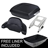 XFMT Chopped 10.7 Tour Pak Pack Trunk w/Backrest Pad& Mounting Rack Compatible with Harley Touring 14-18