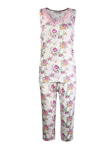 Women's Plus Size 2-Piece Capri Pajamas Red Medium