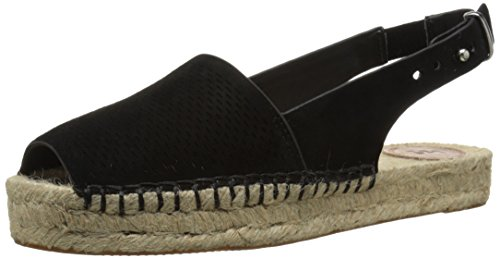 French Connection Womens Lucya Espadrille Sandal Black/Black