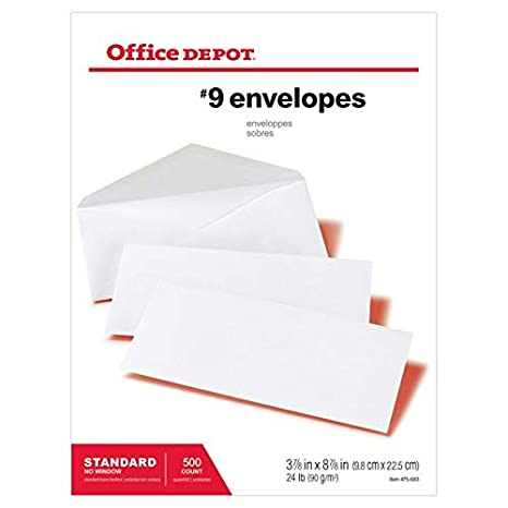 Amazon.com : Office Depot All-Purpose Envelopes, 9 (3 7/8in ...
