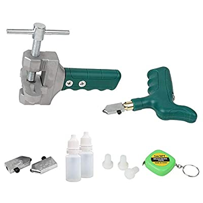 Joylike Glass Tile Opener Kit,Tile Cutter and Glass Cutter,Hand-held Multifunctional Diamond Cutting Ceramic Tile and Glass Tool Set