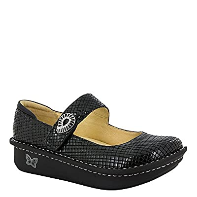Alegria Paloma Women's Slip On 34 M EU Youth Black-Patent-Embossed