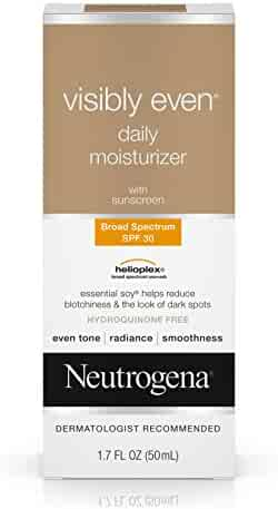 Neutrogena Visibly Even Daily Moisturizer With Broad Spectrum SPF 30 Sunscreen, 1.7 Fl. Oz