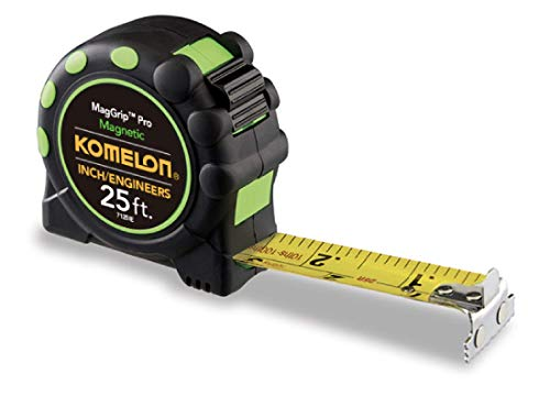 Komelon 7125IE Monster MagGrip Inch/Engineer Scale 25-Foot Measuring Tape with Magnetic ()