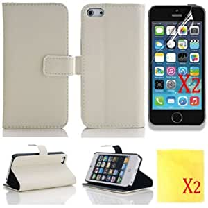 Viesrod (TRAIT)5in1 White Wallet Cases Protector Skin for iphone 5 iphone 5s PU Leather Cover For for iphone5 iphone 5s...