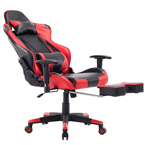 Incredible Killbee Ergonomic Gaming Chair With Footrest Large Reclining Computer Chair Pvc Swivel Leather Executive Office Chair With He Ncnpc Chair Design For Home Ncnpcorg