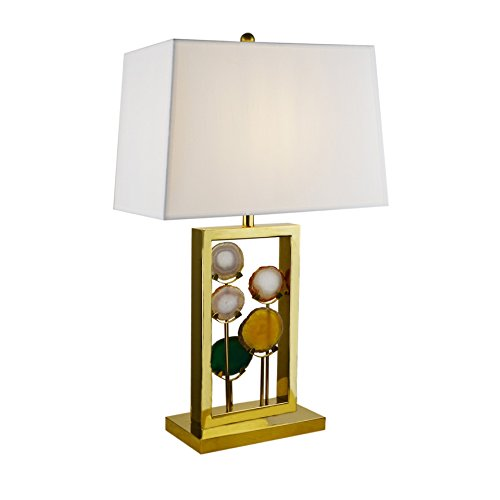 Side Table Lamp Brlighitng Unique Designed Room Lamp in Luxury Agate Pieces Gold Base for Bedside Lamp Living Room Office Decor by BRLIGHTING (Image #6)