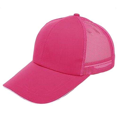 Negro 55 Cómodo Ajustable Unidad Rosado para Mackur Sombrero Transpirable Rojo de Algodón Unisex 1 Béisbol y Exteriores 60CM w661qBO