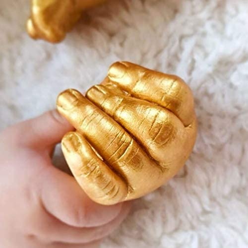 Smaphy Hands Casting Kit | DIY Plaster Statue Molding Kit (Gold & Silver Color Dye) | Hand Holding Craft for Couples, Adult & Child, Family, Friends | Ideal Gift for Birthday, Wedding, Anniversary