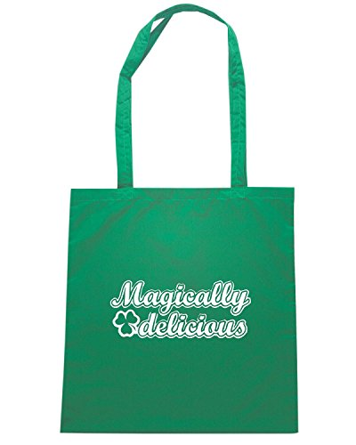 T-Shirtshock - Bolsa para la compra TIR0144 magically delicious dark tshirt Verde