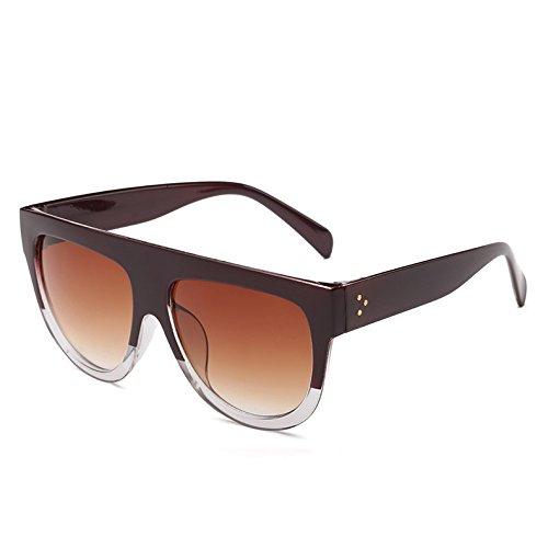 G Leopardblack362 Tonos Sol TIANLIANG04 9 Frame Sol De Viajes Hombre Clear Gradiente Gafas Vintage Uv Bastidor De Enormes Mujer Red C10 Unas Gafas 6vx6Op
