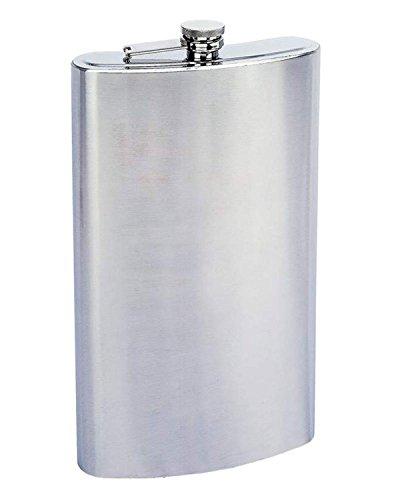 (Buxton Jumbo Flask Brushed Stainless Steel 60 Fl Oz)