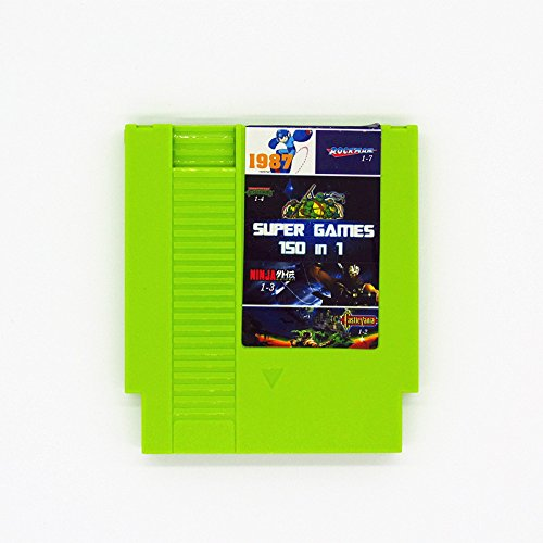 150 in 1 NES Nintendo Game Cartridge TMNT, Super Mario, Castlevania, Ninja Gaiden LATEST VERSION - Contra Nintendo Nes Game