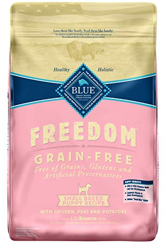 (Blue Buffalo Freedom Grain Free Natural Puppy Small Breed Dry Dog Food, Chicken 11-lb)