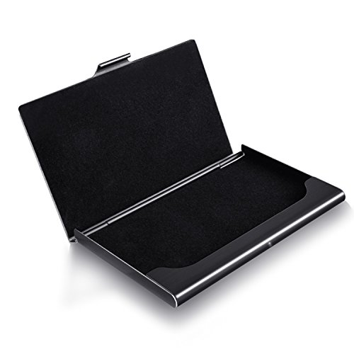 10. MaxGear Professional Business Card Holder Business Card Case Stainless Steel Card Holder Unisex