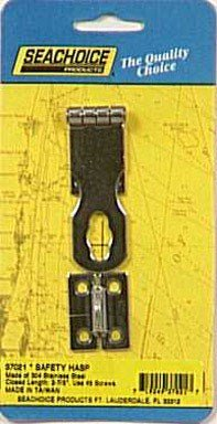 - Fixed Eye Safety Hasp 304 Ss 1 in. X 2-7/8 in, 1/4 in.