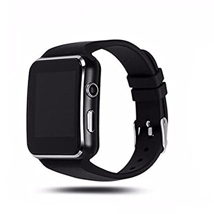 93e060c44f0638 WellTech Bluetooth Certified Smart Wrist Watch All 2G, 3G,4G Phone, X6 Phone  with Camera & SIM Card Support for Smartphones: Amazon.in: Computers & ...