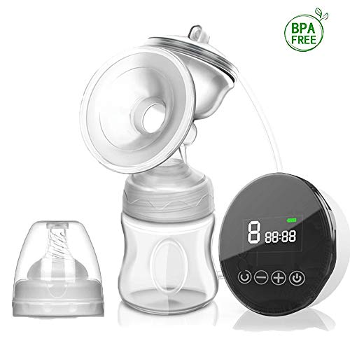 Dodubaby Electric Breast Pump, Smart Breastfeeding Pump,Rechargeable Portable Nursing Breastfeeding Pump with 3 Modes & 9 Levels,Full Touchscreen LED Display, Strong Suction Power, Pain Free,