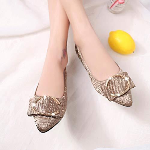 Eu 35 Bout Casual Mode Profonde Peu Élégant Métal Chaussures Ete Pointu SandalesNoirKakiGrisBleu Modaworld Plates 40 Simple Kaki FemmeSimples En EDeIWH29Y