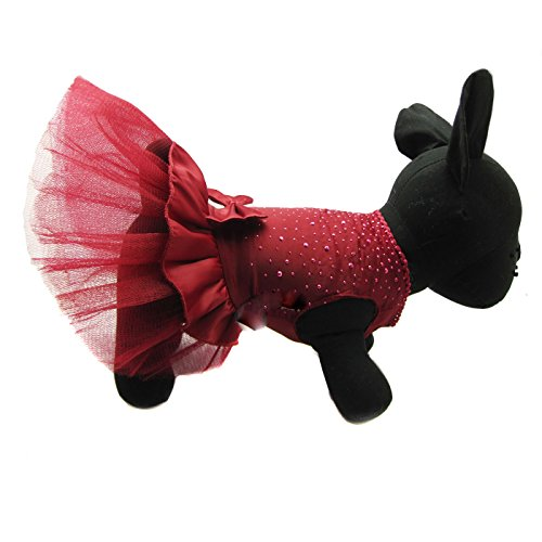 Alfie Pet by Petoga Couture - Shirley Tutu Party Dress - Color: Burdundy, Size: Small by Alfie (Image #6)