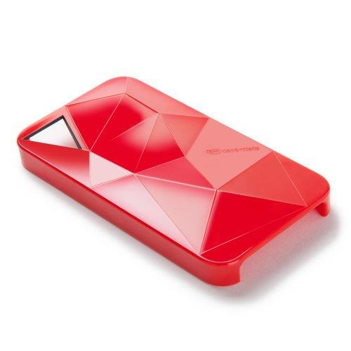 Case-Mate BT-COV-CM015396 Coque de protection à facettes pour iPhone 4/4S Rouge