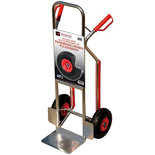 pro-bau-tec Aluminium Sackkarre mit Treppenrutsche und PU Rädern 150 kg, 10060