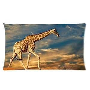 Animals Giraffe One Side Rectangle Pillowcase Pillow Cover 16x24 Inch