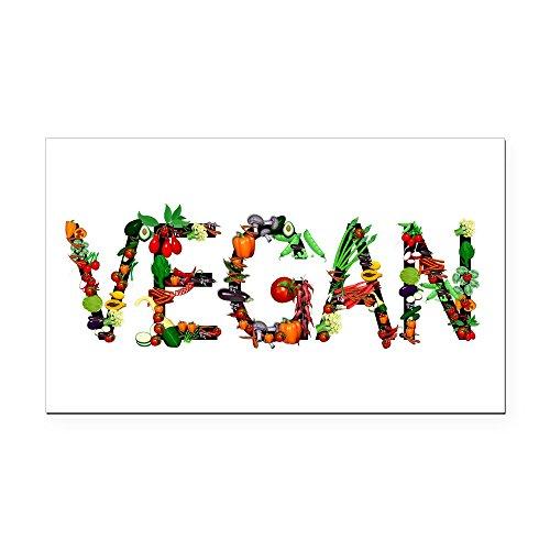 CafePress - Vegan Vegetable - Rectangle Car Magnet, Magnetic Bumper Sticker (Magnet Veggies Rectangle)